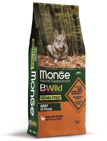 Монже Корм беззерновой для собак всех пород BWild GRAIN FREE Утка/Картофель, в ассортименте, Monge