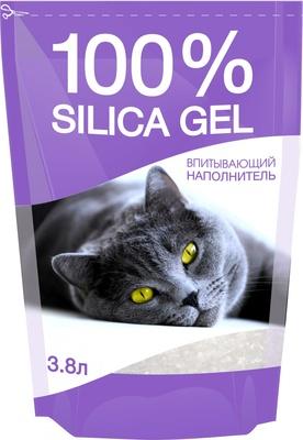 N1 Наполнитель cиликагелевый 100% Silica Gel для кошачьего туалета, в ассортименте, N1