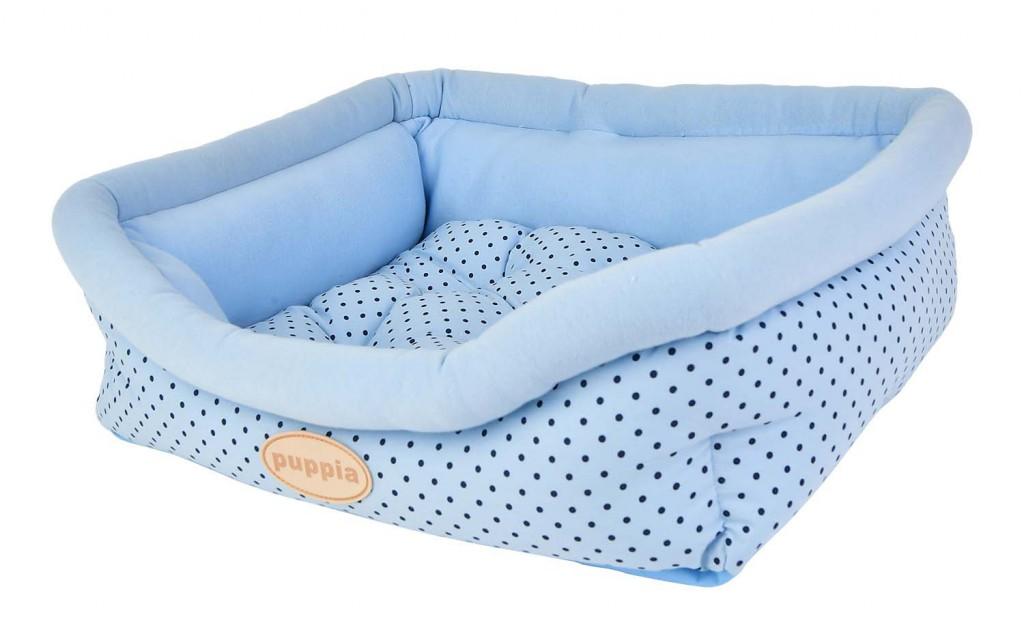 Паппи Лежак для животных Cozy Dot голубой, 49*38*12*18 см, Puppia