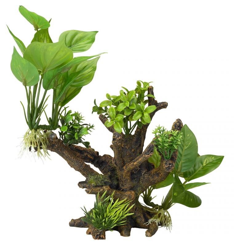 АкваДелла Декоративное растение Florascape 4 для террариумов и аквариумов, 20,5*19*23 см, AquaDella
