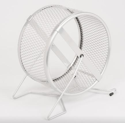 ИнтерЗоо Беговое колесо с мелкой сеткой 20 см, хромированный металл, InterZoo