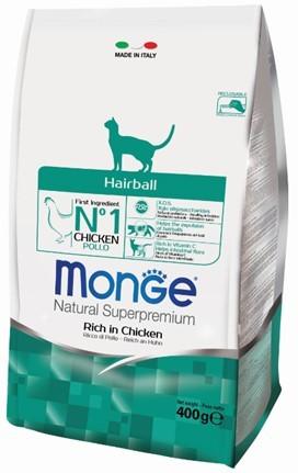 Монже Корм для кошек, выведение шерсти, Cat Hairball, Курица, в ассортименте, Monge