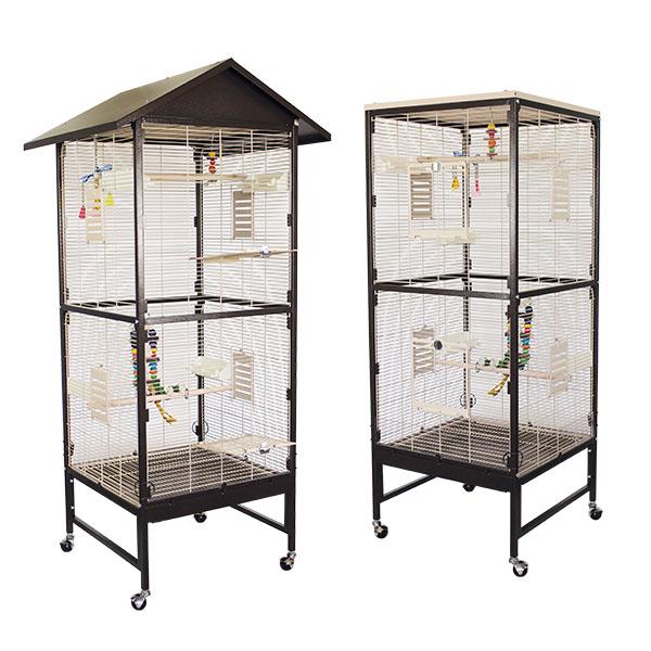 Монтана Клетка Villa Casa 60 для птиц, грызунов, хорьков, 60*60*124/170 см, в ассортименте, Montana