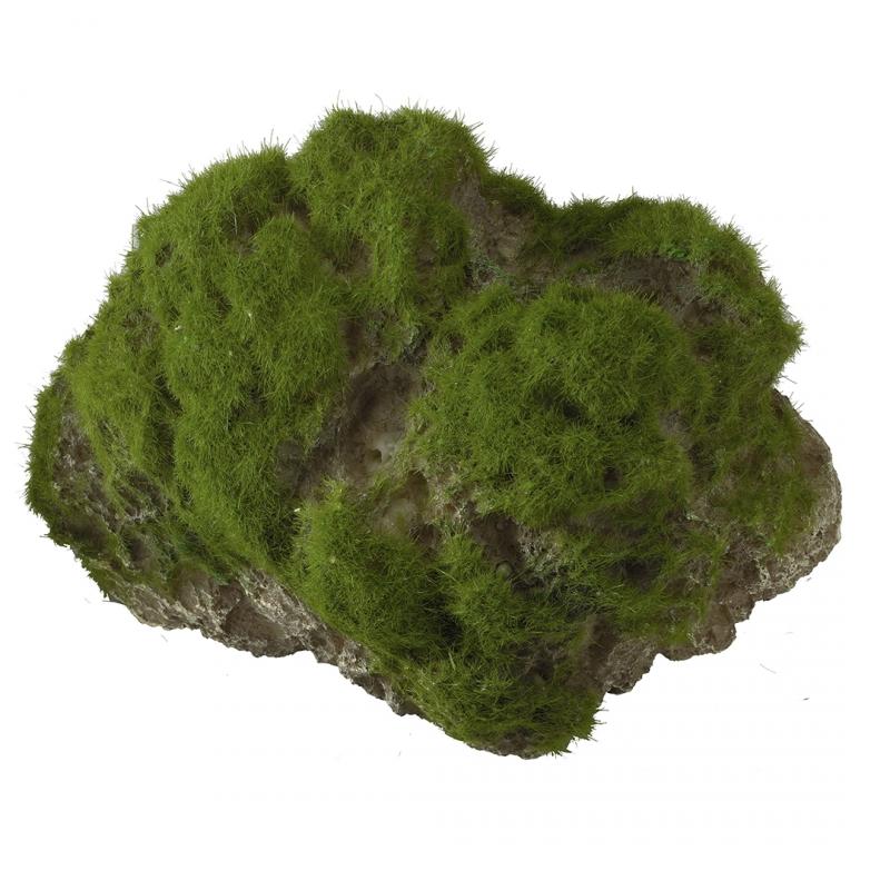 АкваДелла Декоративный камень с мхом Moss Stone на присоске, в ассортименте, AquaDella