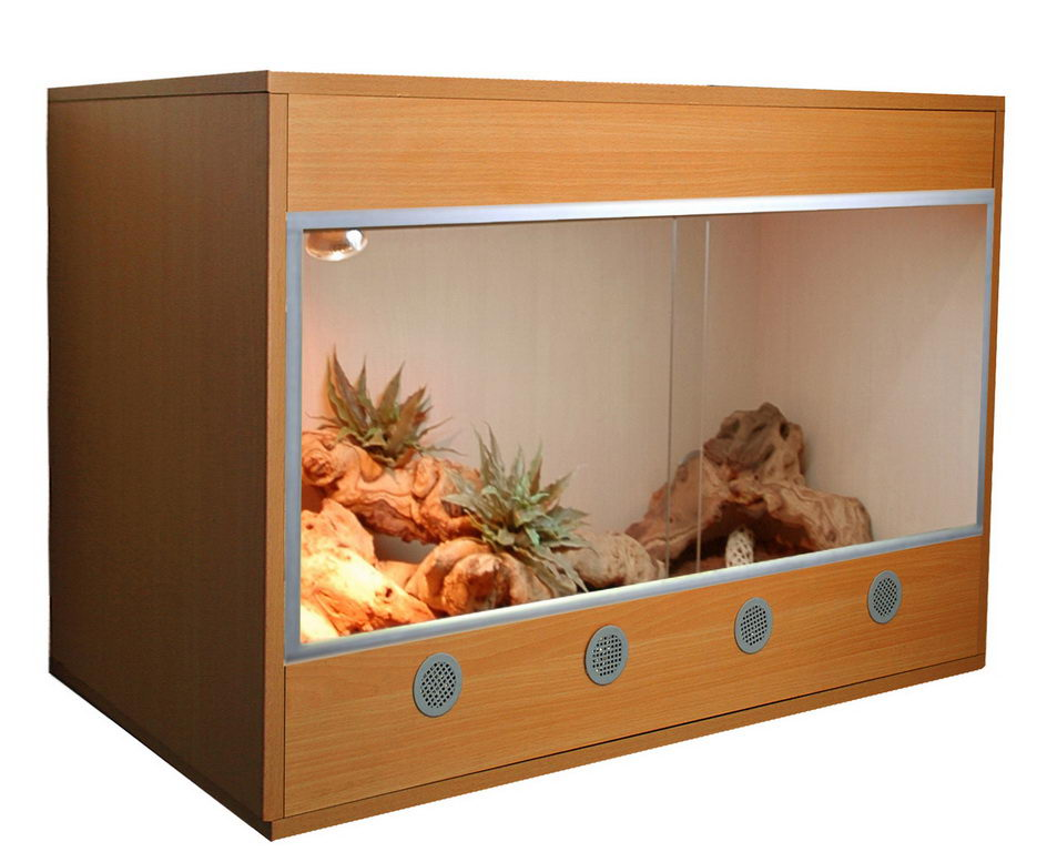 Лаки Рептайл Террариум Стартовый комплект для Бородатых Агам деревянный, 80*50*50 см, в ассортименте,  Lucky Reptile