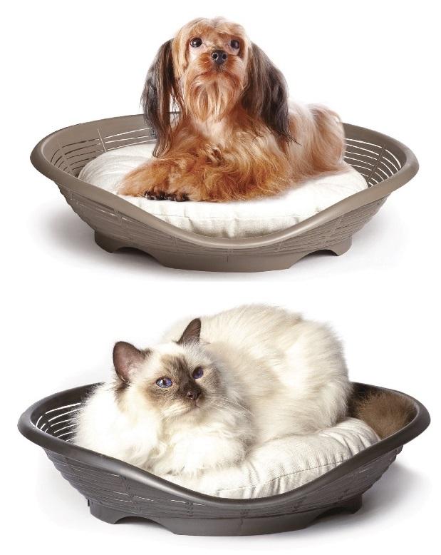 Бама Пет Лежак пластиковый Pasha с подушкой, 48*46*11 см, в ассортименте, Bama Pet