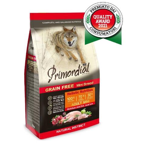 БОНУС Примордиал корм беззерновой Adult Mini для собак мелких пород, Утка/Перепелка, в ассортименте, Primordial