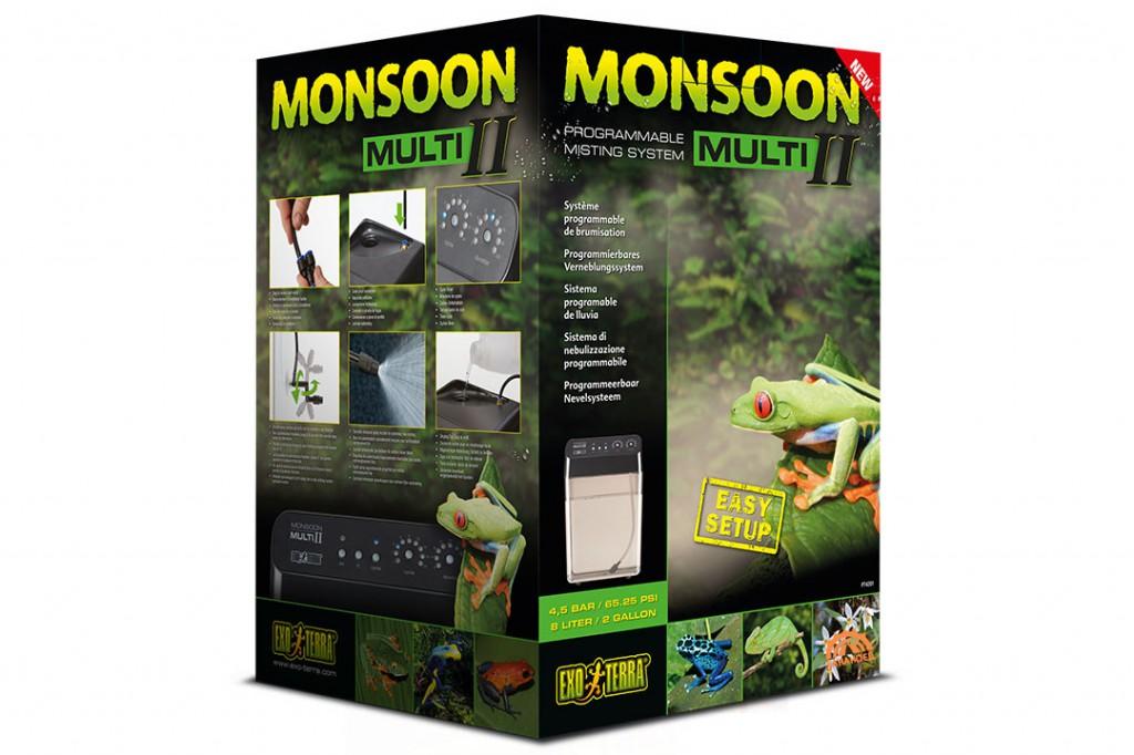 Экзо Терра Система осадков Monsoon Misting System для тропических террариумов и комнатных оранжерей, в ассортименте, Exo Terra
