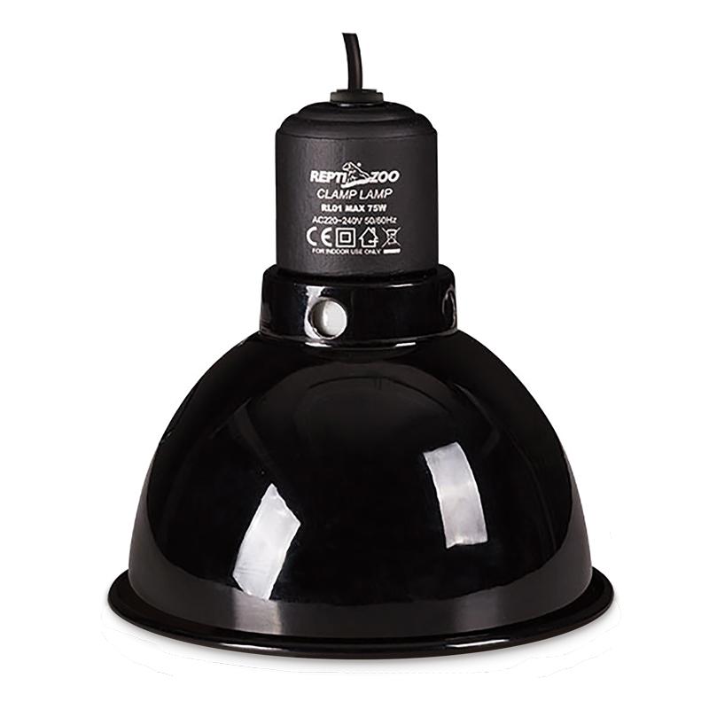 РептиЗоо Светильник (рефлектор) навесной с керамическим цоколем Е27, в ассортименте, ReptiZoo