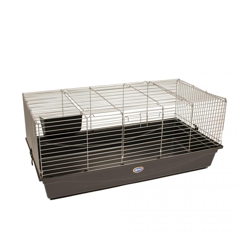 Дуво+ Клетка для кроликов и морских свинок серо-черная, в ассортименте, Duvo+