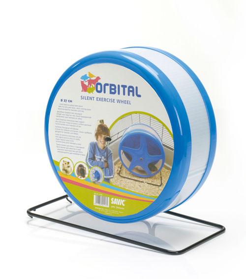 Савик Пластиковое беговое бесшумное колесо Orbital на металлической подставке, в ассортименте, Savic