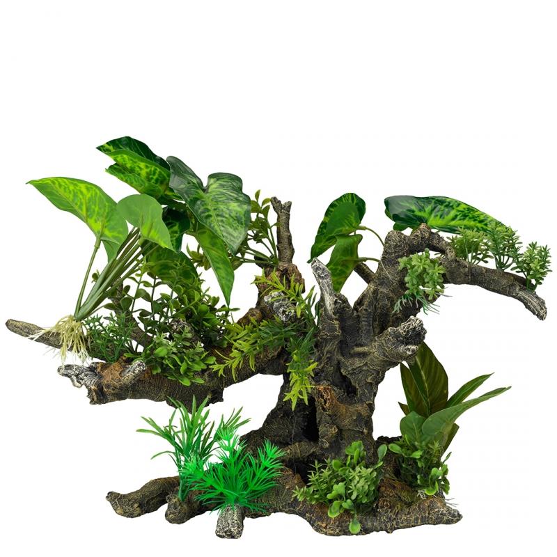 АкваДелла Декоративное растение Florascape 10 для террариумов и аквариумов, 41*23,5*31 см, AquaDella