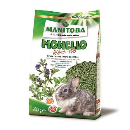 Манитоба Корм Monello Pellet Pro безглютеновый для кроликов 600 г, Manitoba