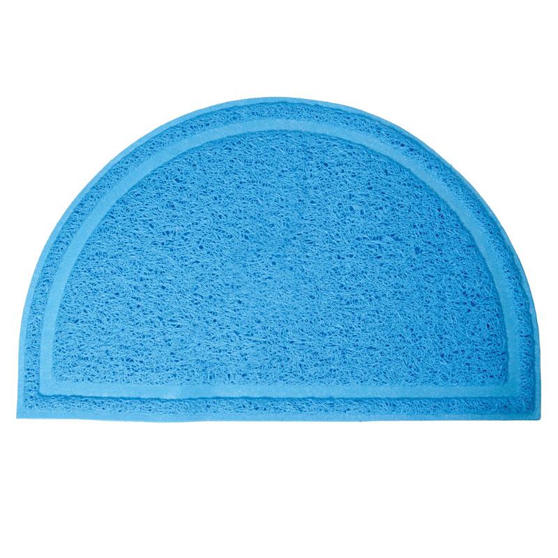 Триол Коврик для кошачьего туалета полукруглый голубой 40*25 см Triol