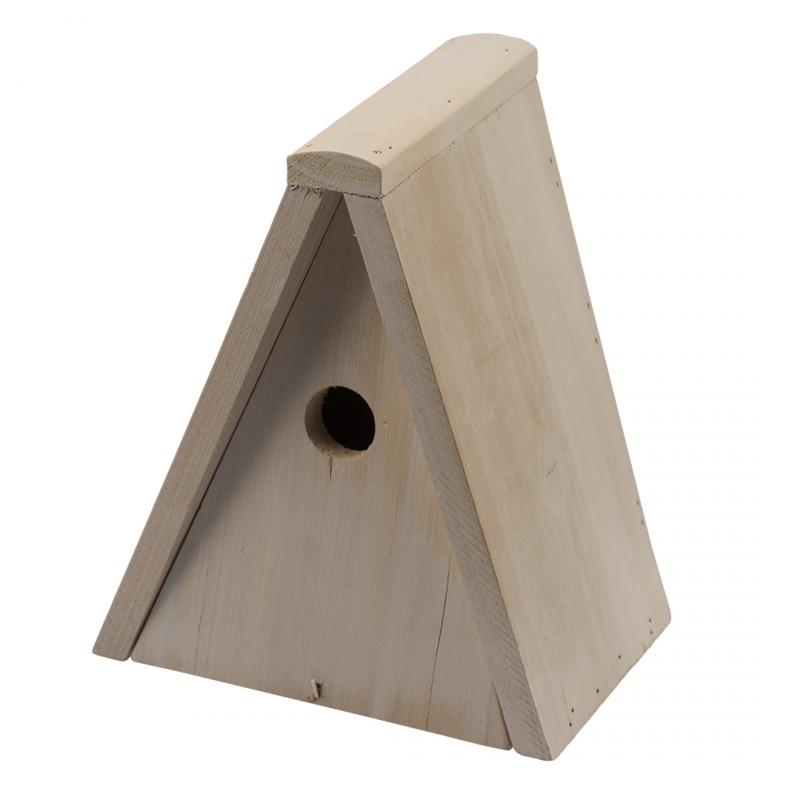 Дуво+ Домик для гнездования деревянный треугольный 20*15*25 см, DUVO+