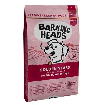 Баркинг Хедс Корм беззерновой для собак старше 7 лет Золотые годы (Golden Years) Курица/Рис, в ассортименте, Barking Heads