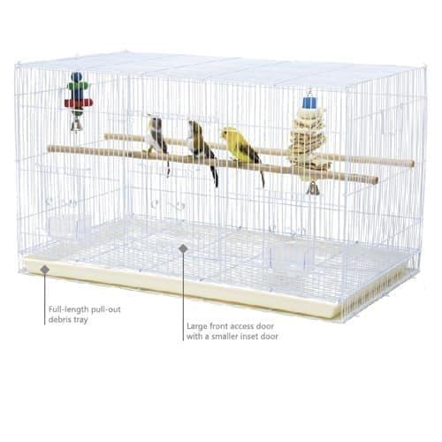 Клетка 610D для мелких птиц 76*46*45 см, цвет в ассортименте, ТМ Золотая Клетка