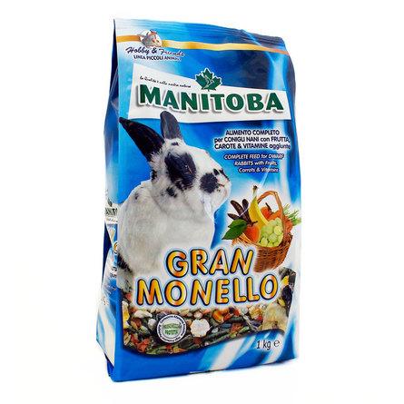 Манитоба Корм для кроликов питательный Gran Monello, 1 кг, Manitoba