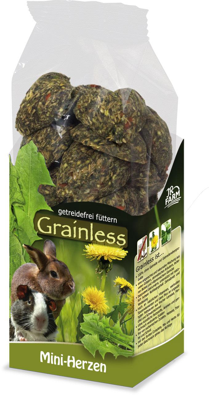 JR Farm Grainless Лакомство беззерновое для грызунов Сердечки мини, 150 г
