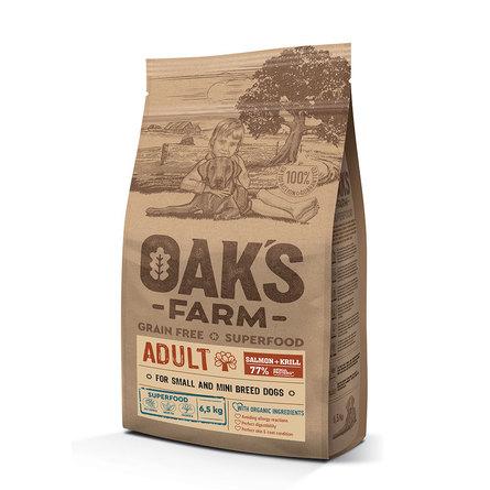Оакс Фарм Корм беззерновой GF Salmon with Krill Adult All Breeds для собак всех пород Лосось/Криль, в ассортименте, Oaks Farm