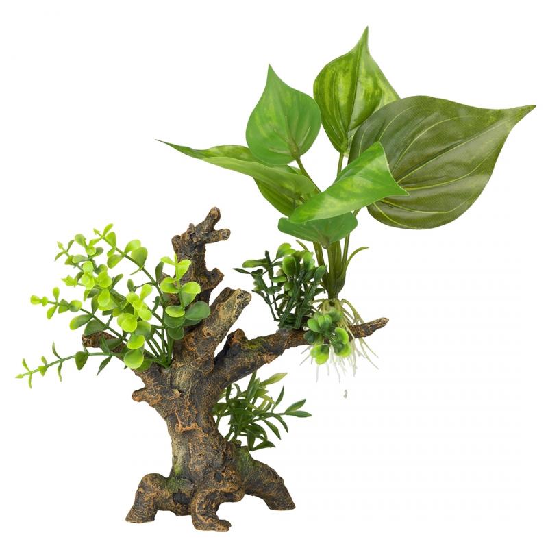 АкваДелла Декоративное растение Florascape 6 для террариумов и аквариумов, 14,5*9*16,5 см, AquaDella