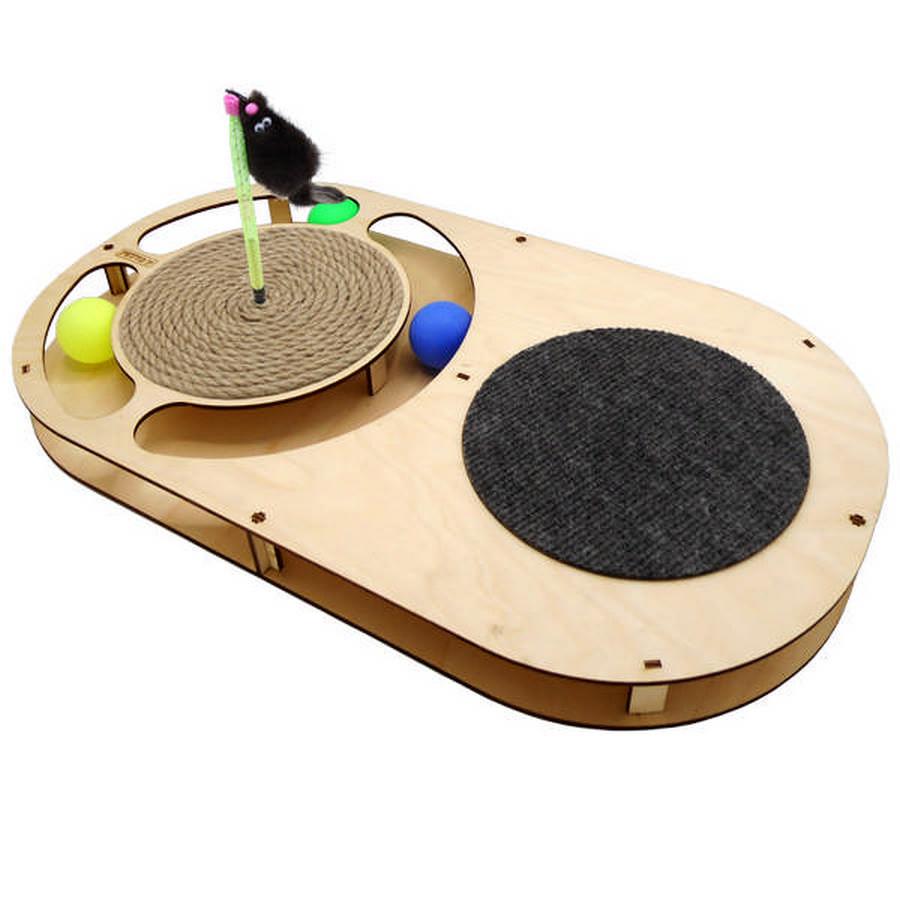 Петто Игровой комплекс для кошек Овал с шариками 49*27*3,6 см, в ассортименте, Petto