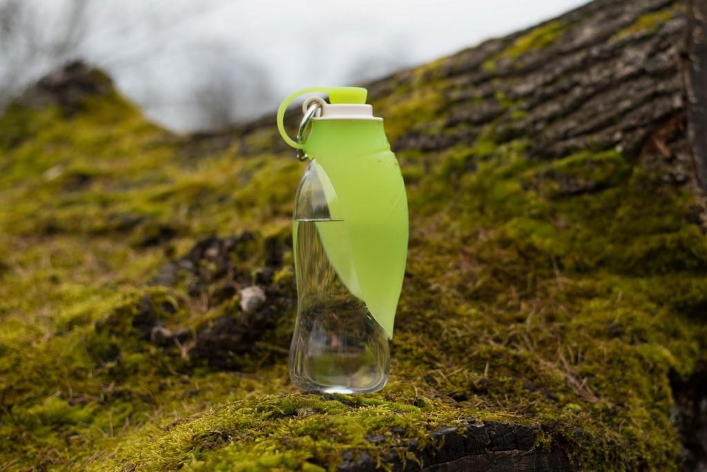 Роузвуд Поилка-бутылка для собак зеленая с силиконовой миской, 650 мл, Rosewood