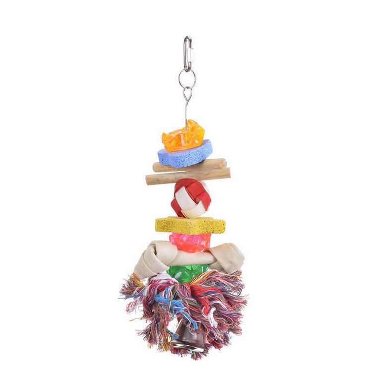 Хеппи Берд Игрушка Bone/Stone Kabob с минеральными камнями для средних и крупных птиц, 28*9 см, Happy Bird