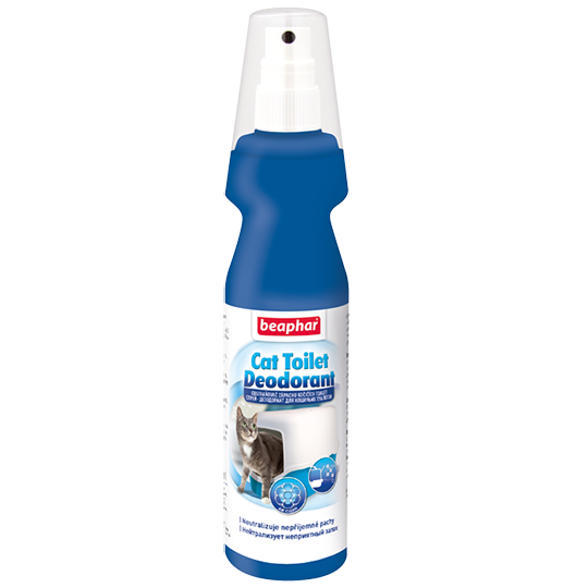 Беафар Спрей-дезодорант Cat Toilet Deodorant для кошачьих туалетов, 150 мл, Beaphar