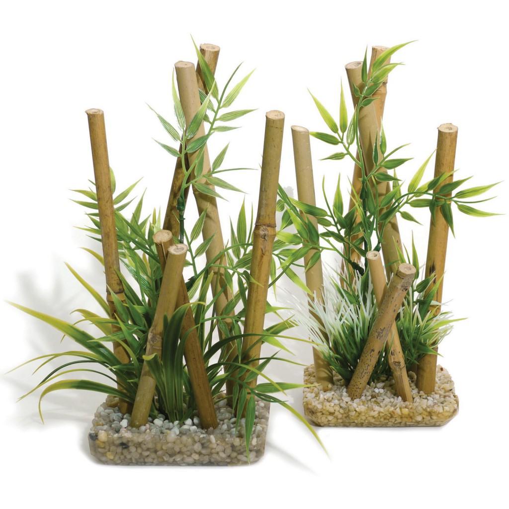 Роузвуд Декоративное растение Бамбук для террариумов и аквариумов, 25*11*9 см Rosewood