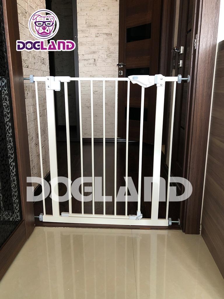 Доглэнд Перегородка захлопывающаяся DG-11, ширина 72-84 см высота 76 см, цвет белый, Dog Land