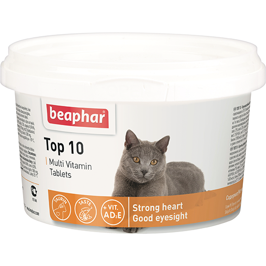 Беафар Кормовая добавка Top 10 для кошек 180 таб, Beaphar