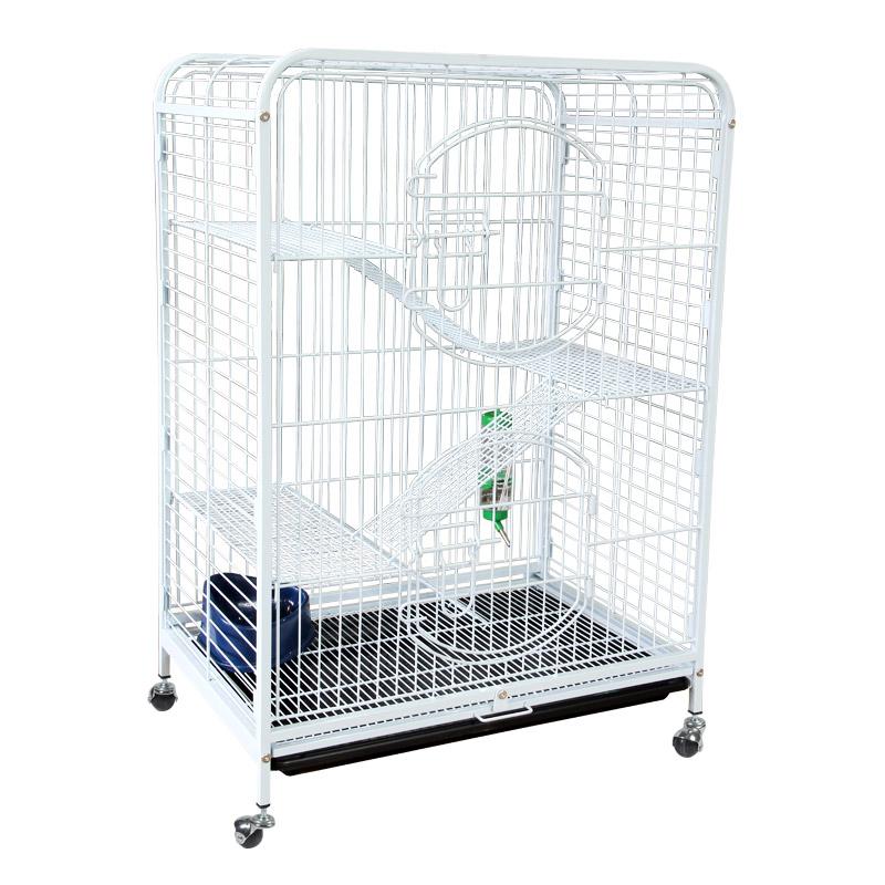 Триол Клетка C2-1 с изолированным поддоном, для кошек, шиншилл, хорьков, 64*43,5*92,5 см, в ассортименте, Triol.