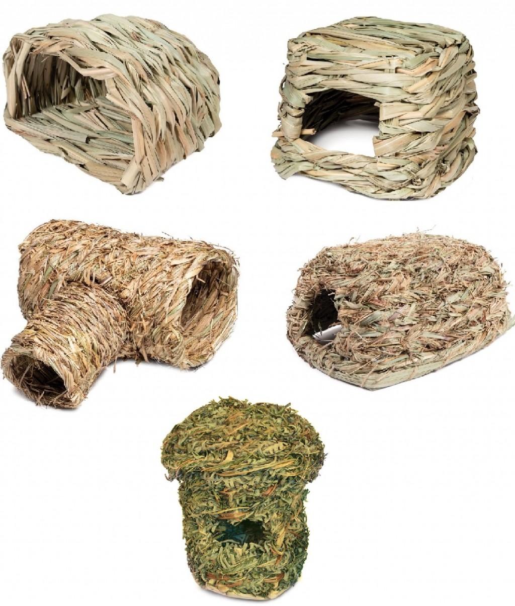 Триол Домик Natural из луговых трав для мелких животных, в ассортименте, Triol