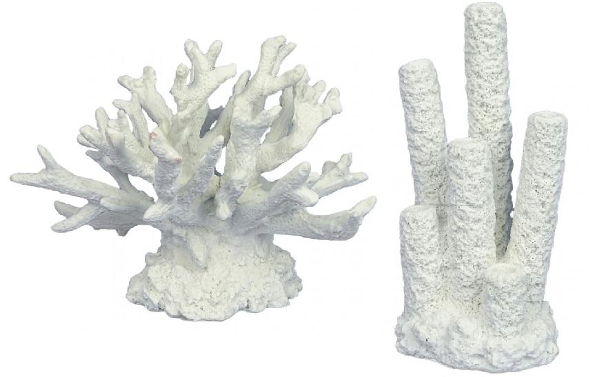 АкваДелла Декорация для аквариума Коралл белый, в ассортименте, AquaDella