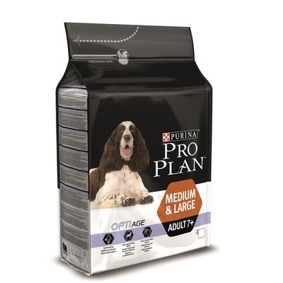 Корм Про План Senior 7+ для собак средних и крупных пород старше 7 лет, Курица/Рис, в ассортименте, Pro Plan