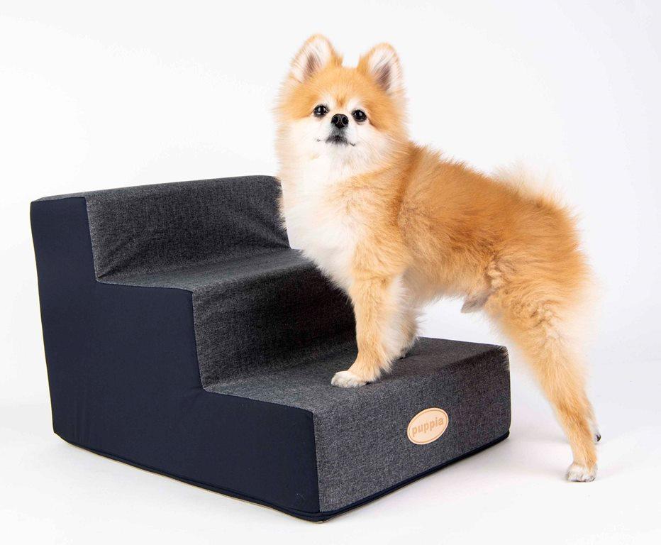 Паппи Приставная лесенка Water Proof для собак и кошек, 37*61*38 см, синяя, Puppia