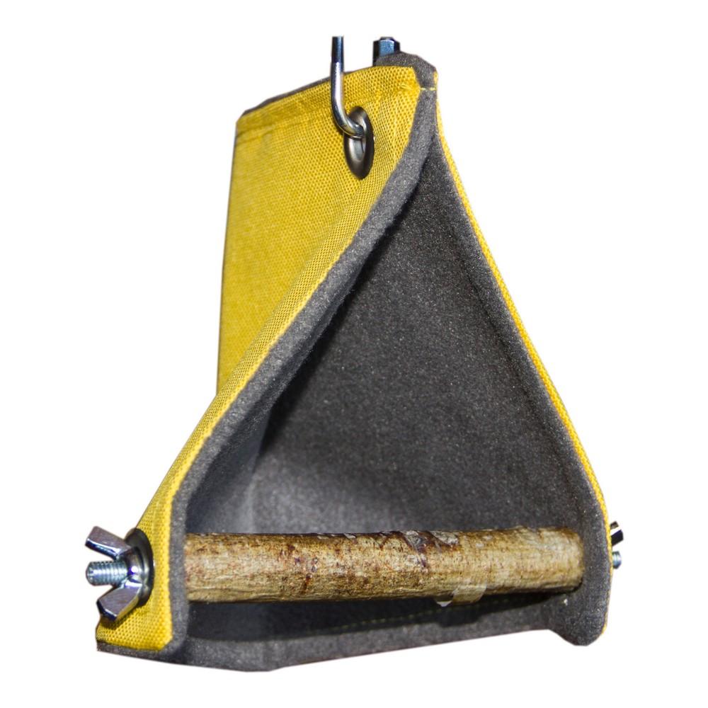 ПарротсЛаб Гамак-палатка для птиц с жердочкой желтый, в ассортименте, ParrotsLab