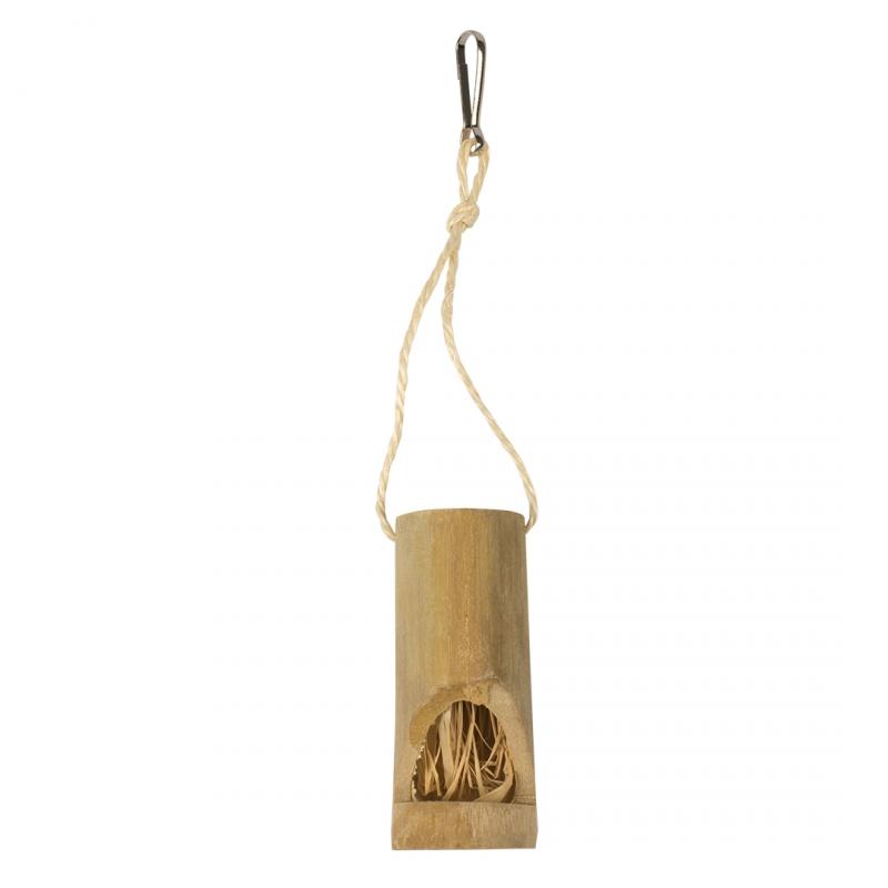 Дуво+ Кормушка Бамбук для птиц и грызунов, 4,6*25,5 см, Duvo+
