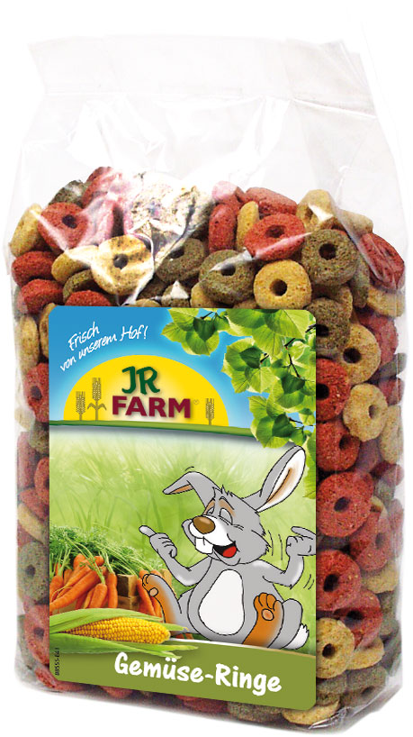 JR Farm Лакомство Gemuse-Ringe Овощные колечки (дополнительный корм) для всех видов грызунов, 200 г