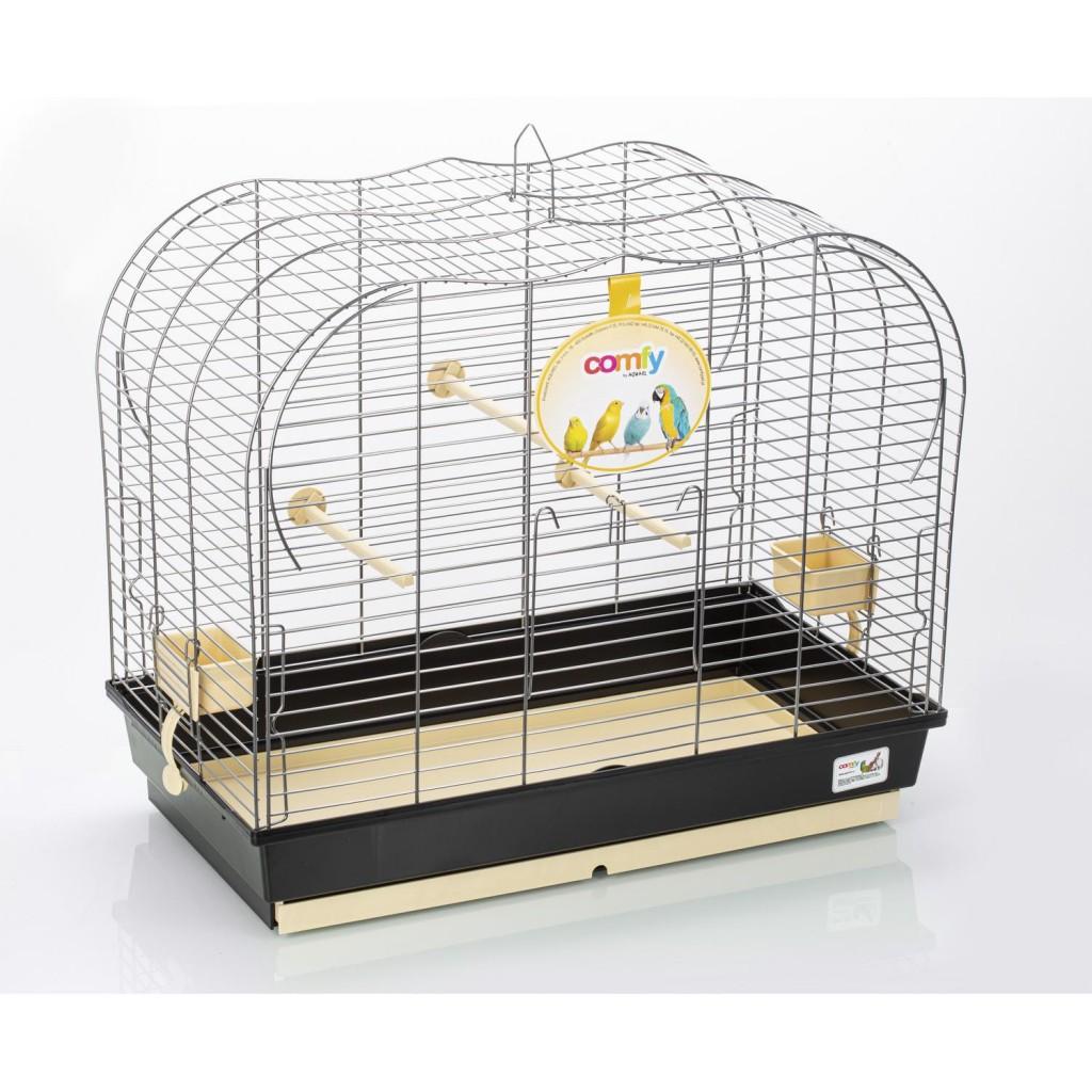 Комфи Клетка для птиц VULCANO 65*36*55 см черный поддон, Comfy