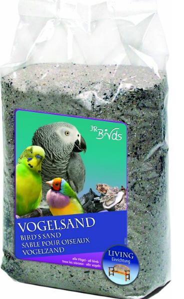 JR Farm Песок для птиц обогащенный углем и устричной крошкой, 3 кг