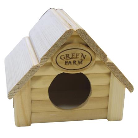 Грин Фарм Дом для мелких грызунов Изба 12*14,5*11,5 см, Green Farm