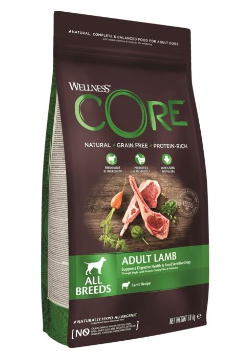 Веллнесс Корм Core для взрослых собак всех пород, Ягненок/Яблоко, в ассортименте, Wellness
