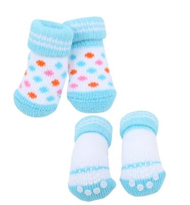 Паппи Носки Polka Dot II голубые, в ассортименте, Puppia