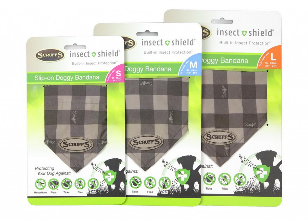 Скрафс Бандана для собак на шею Insect Shield Doggy Bandana в ассортименте, Scruffs