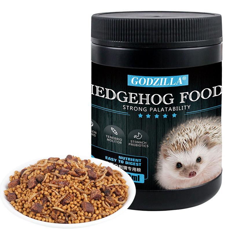 Корм сухой питательный с шелкопрядом, мучником и кусочками мяса для африканских ежей Hedgehog foods strong palatability, 450 г, Jonsanty