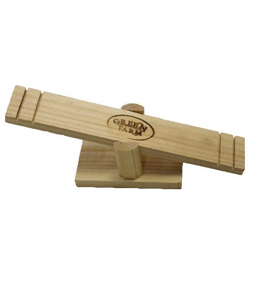 Грин Фарм Деревянная игрушка Качели для мелких грызунов 28*5*7 см, Green Farm