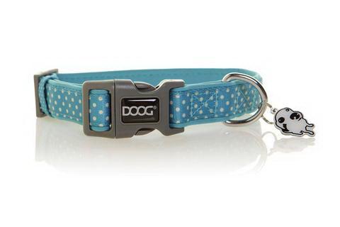 Дуг Ошейник Snoopy для собак, нейлон/неопрен, в ассортименте, голубой с белым, Doog