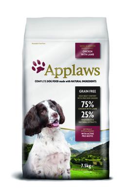Эплауз Корм беззерновой для собак малых и средних пород Dry  Dog Lamb Small and Medium Breed Adult, Курица и ягненок/Овощи, 7,5 кг, Applaws